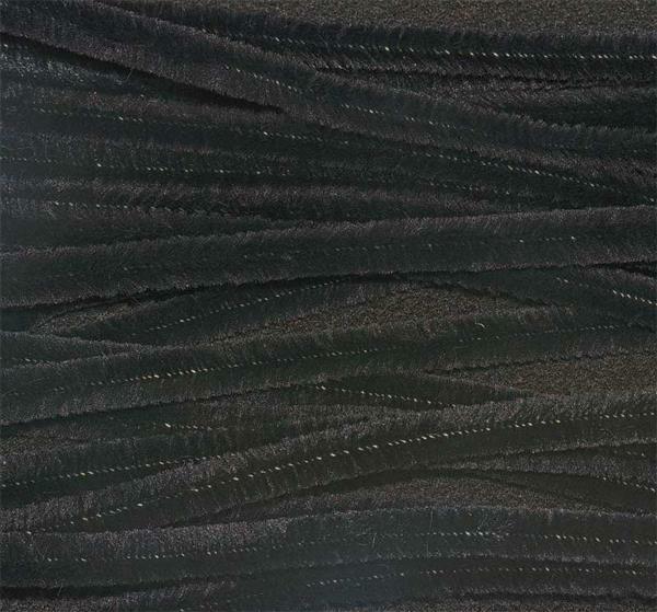 Chenilledraht - 10 Stk., 50 cm, schwarz