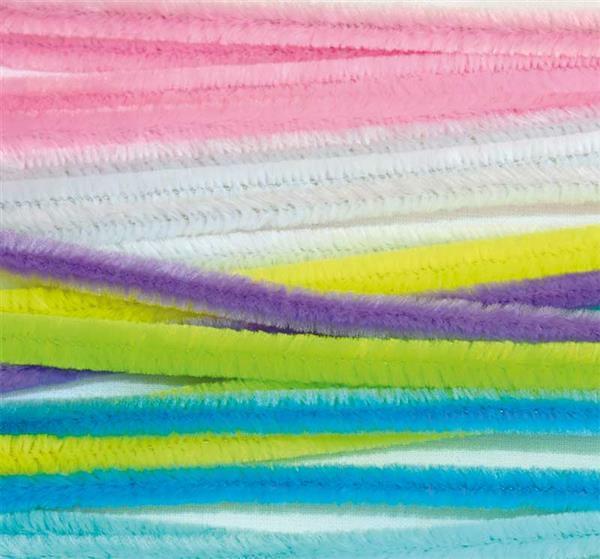 Chenilledraht Mix - 10 Stk., 50 cm, pastell