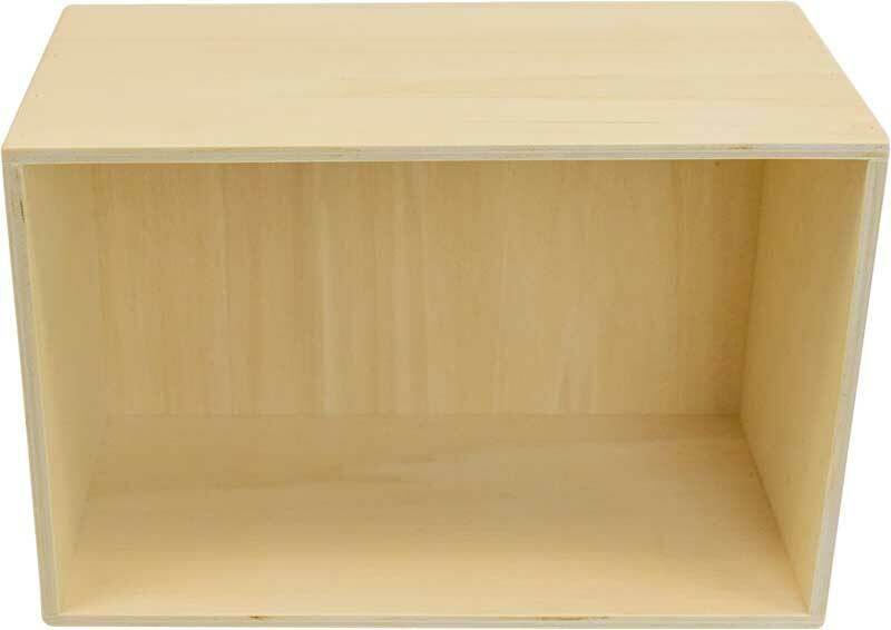 Boîte en bois, env. 25,5 x 18 x 15,5 cm