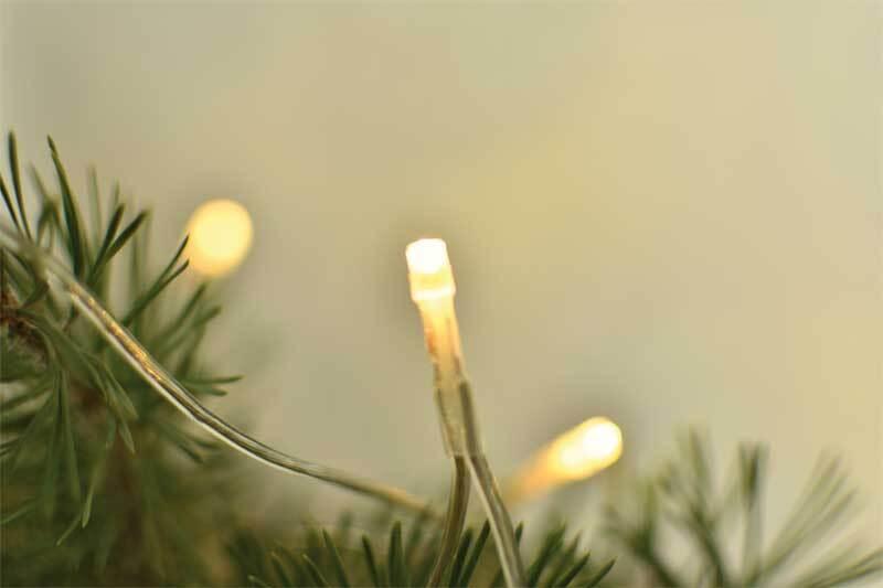 Lichterkette LED, mit 20 Lämpchen/Stecker