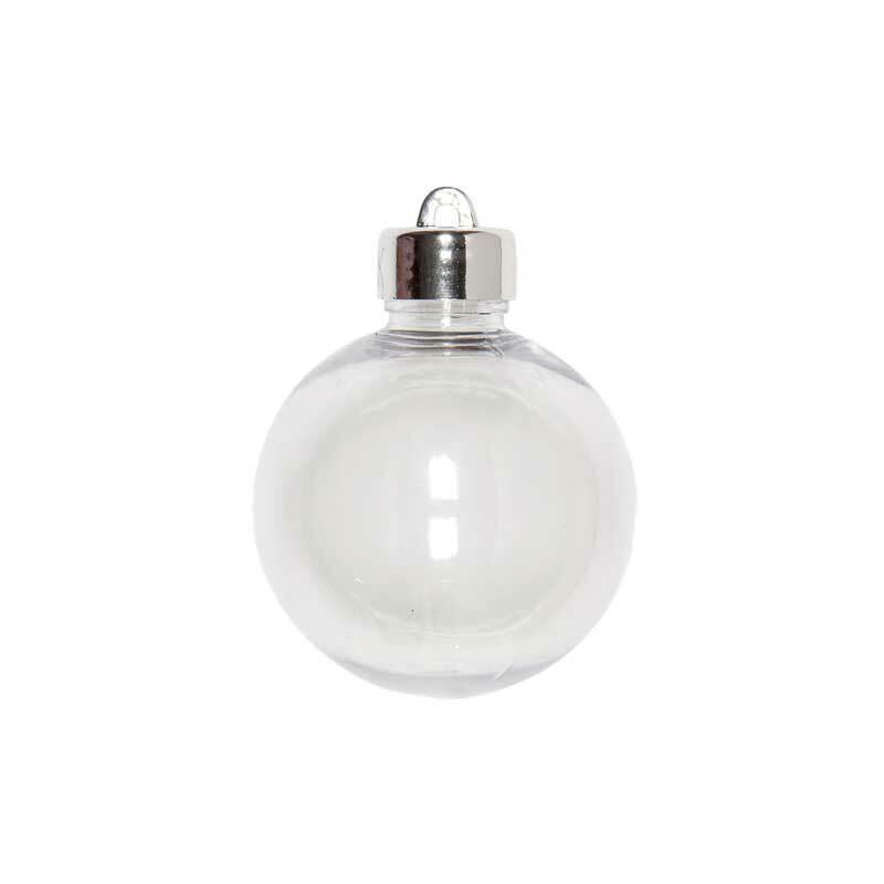 Boule plastique - transparente, Ø 60 mm