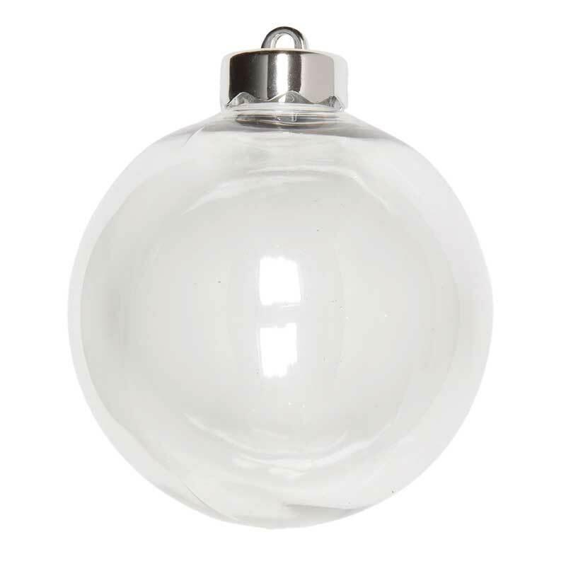 Boule plastique - transparente, Ø 100 mm