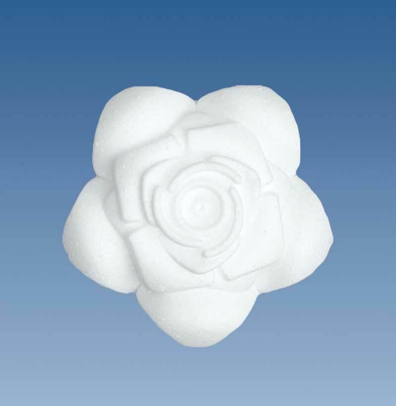 Tempex - roos, Ø 9 cm x 3 cm