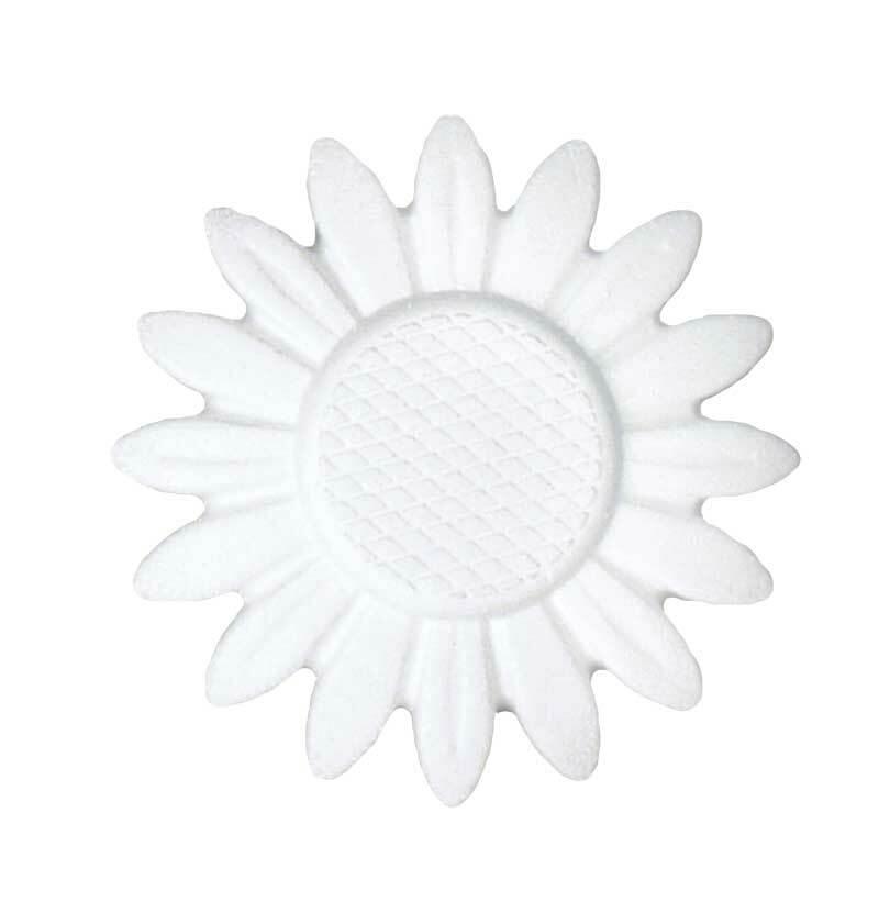 Tempex - zonnebloem, Ø 15 cm x 1,5 cm