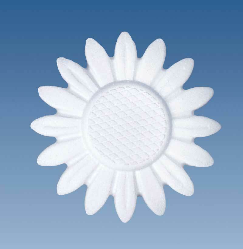 Styropor - Sonnenblume, Ø 15 cm x 1,5 cm