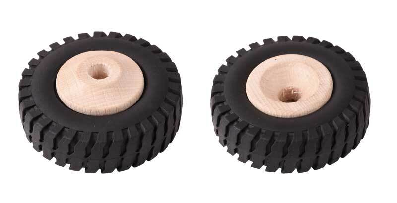 Houten wiel met profiel - boring 8,5 mm, Ø 64 mm