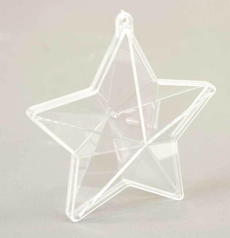 Stern glasklar - 2-teilig, 160 mm