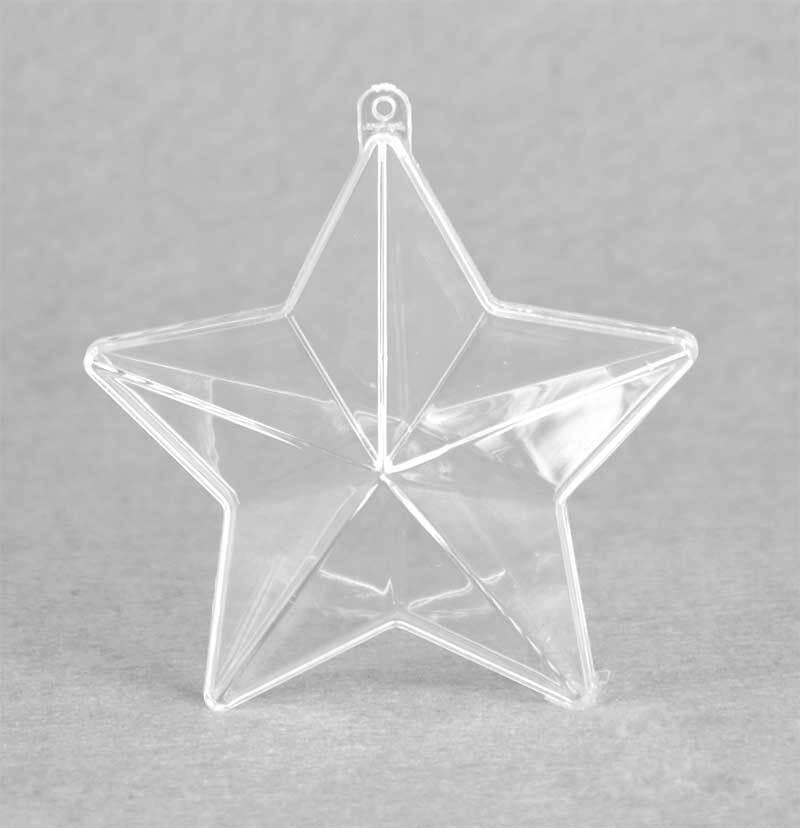 Plastic ster - 2-delig, 100 mm