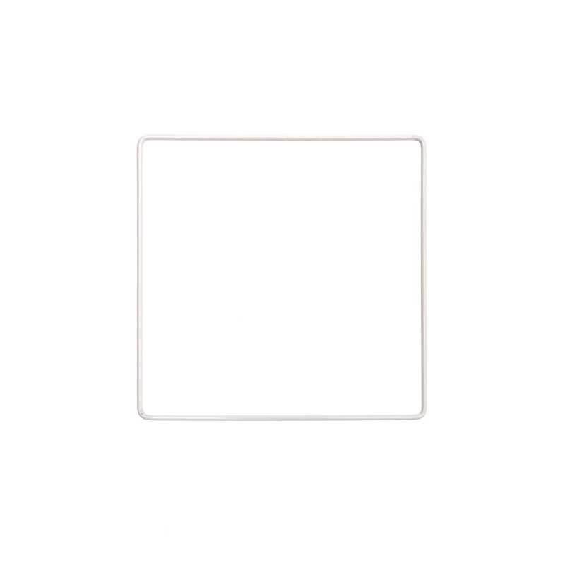 Metalen vierkant wit gecoat, 15 x 15 cm