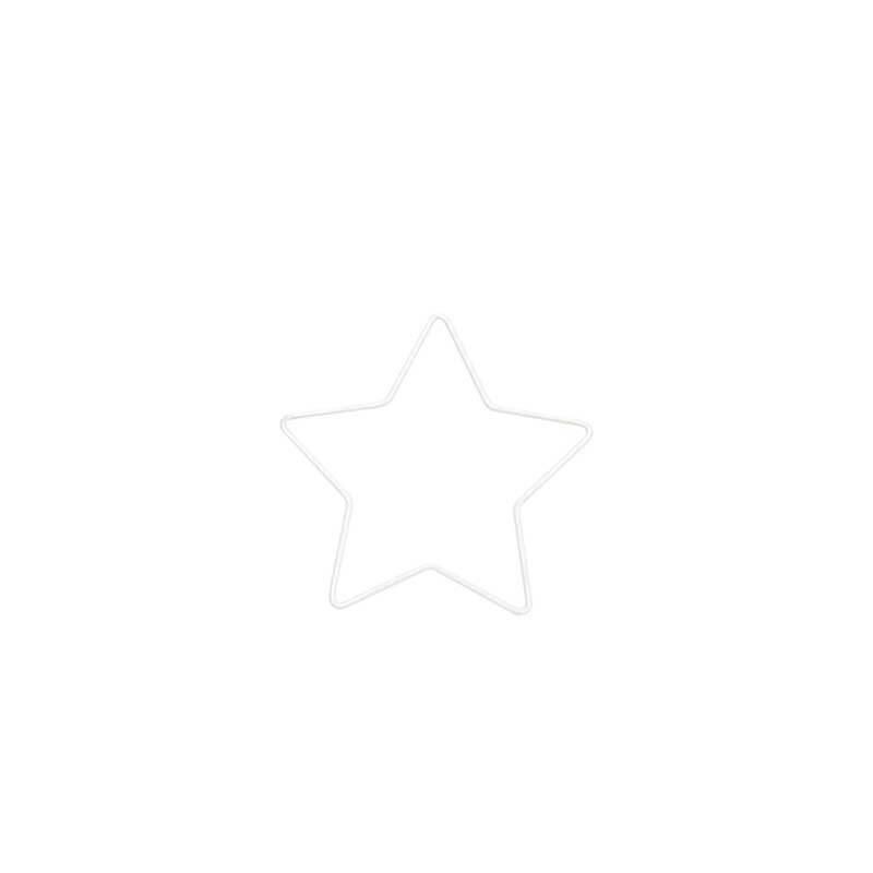 Metallring - Stern, 11 cm