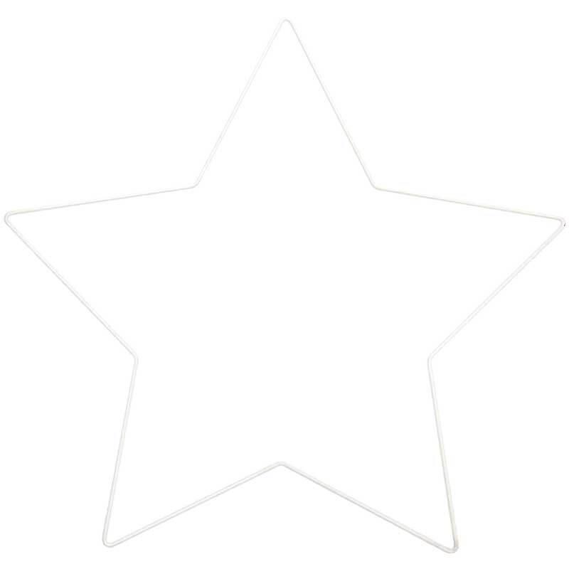 Metalen draadvorm - ster, 30 cm