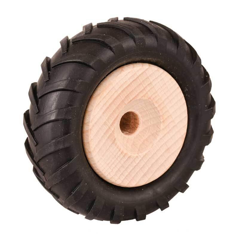 Holzrad mit Traktor-Profil - Ø 80 mm, Bohr. 8,5 m
