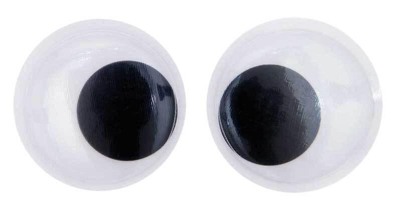 Yeux mobiles ronds XL - 2 pces, Ø 70 mm