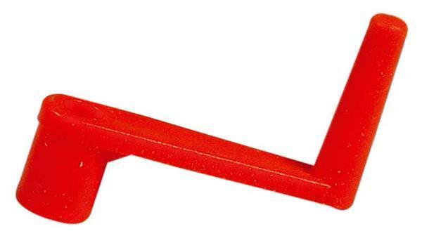 Manivelle de démarrage rouge calibre 3.9 mm