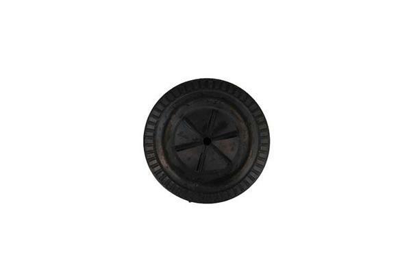 Wiel zacht PVC, zwart, Ø 35 mm