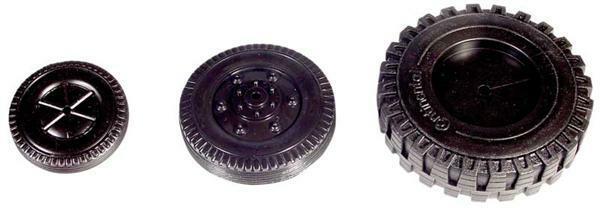 Roue en PVC souple noire - Ø 35 mm