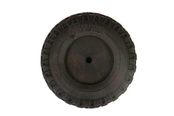 Roue en PVC souple noire - Ø 61 mm