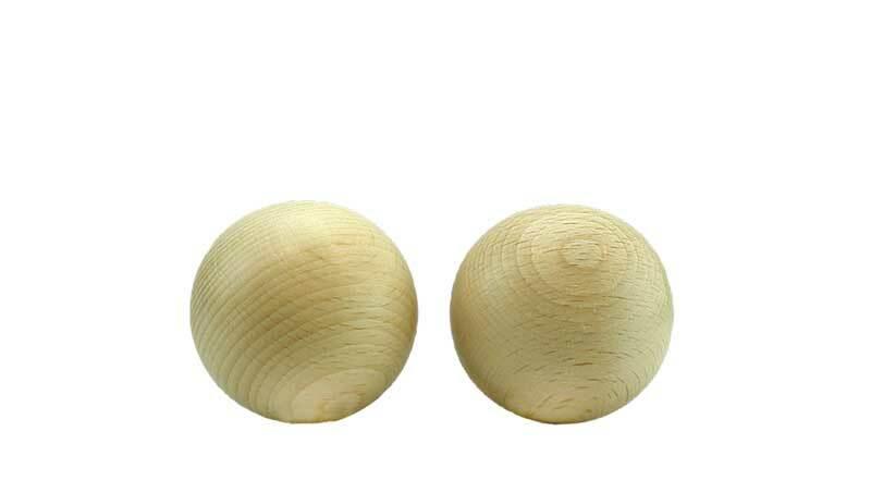 Boules en bois - 100 pces, non percées, Ø 10 mm
