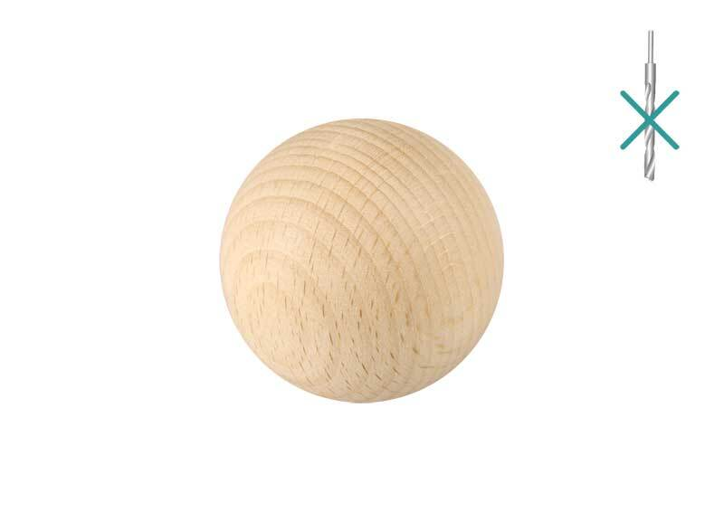 Houten ballen - 25 st.,  zonder gat, Ø 30 mm