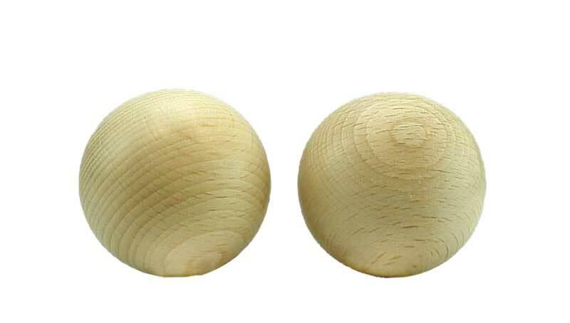 Boules en bois - 25 pces, non percées, Ø 30 mm