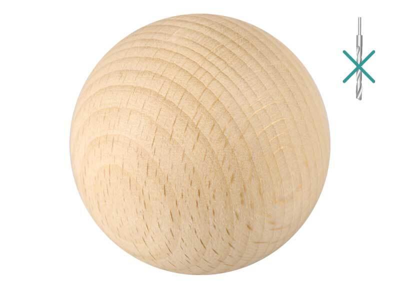 Boules en bois - 10 pces, non percées, Ø 50 mm