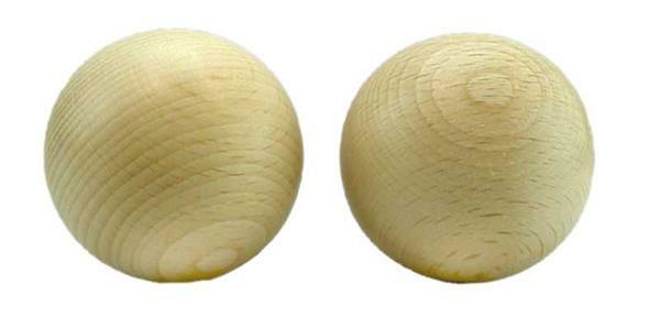 Holzkugel - 10er Pkg., ohne Bohr., Ø 50 mm