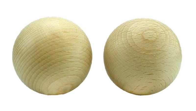 Houten ballen zonder boorgat - 10 st., Ø 50 mm