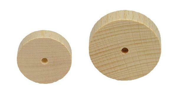 Houten wiel gladde zijkant - 10 st/pak, Ø 30 mm