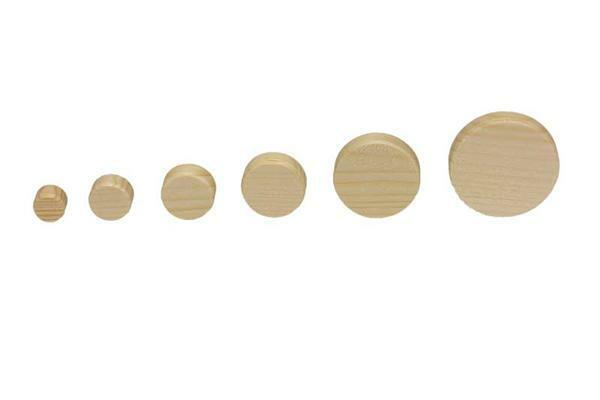 Vurenhouten schijven - 50 st./pak, Ø 15 mm