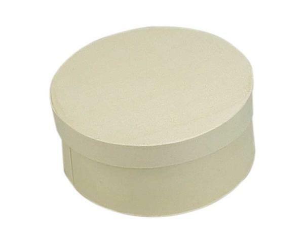 Houten doosjes - rond, ca. Ø 115 x 50 mm