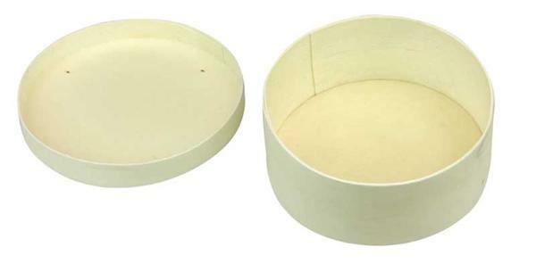 Houten doosjes - rond, ca. Ø 145 x 50 mm