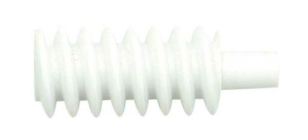 PVC Schnecke weiss Modul 1, Bhg. 1,9 / 2,9 mm