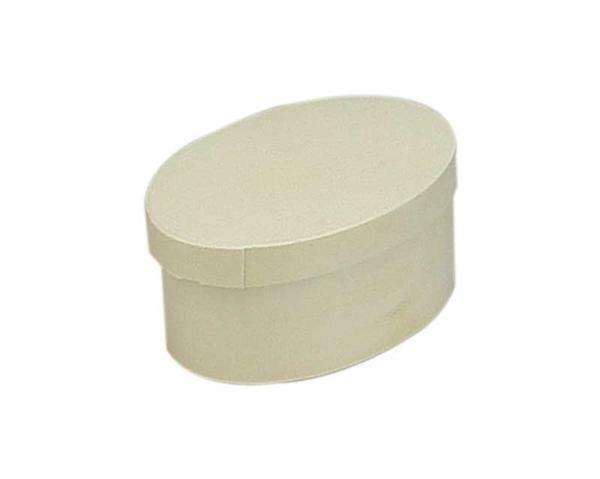Spanschachtel - oval, 100 x 70 x 50 mm