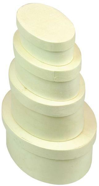 Spanschachtel - oval, 120 x 90 x 50 mm