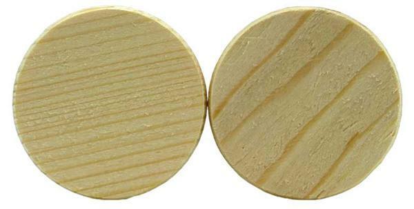 Fichtenholzscheiben - 50er Pkg., Ø 50 mm