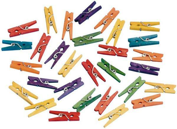 Pinces à linge -petites multicolor, 25 mm, 25 pces