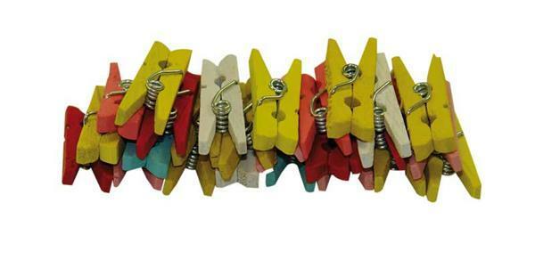 Wasknijpers - klein-gekleurd, 25 mm, 25 st.