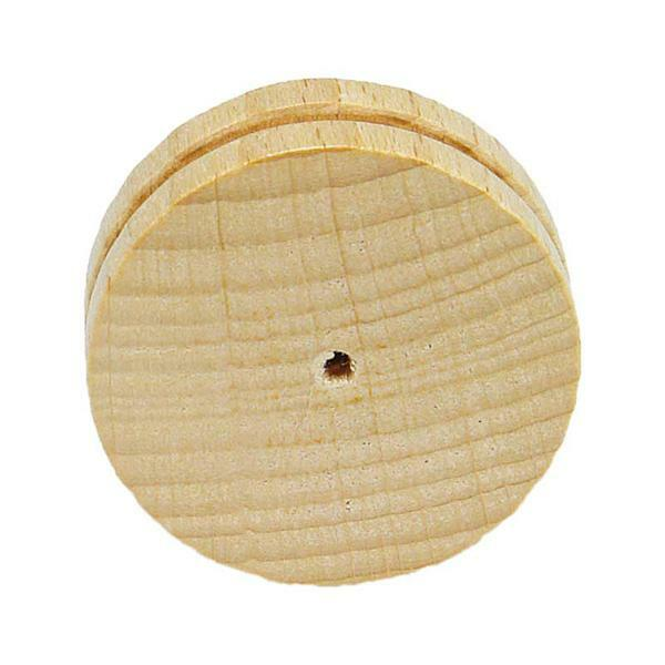 Houten wiel gladde zijkant - met gleuf, Ø 40 mm