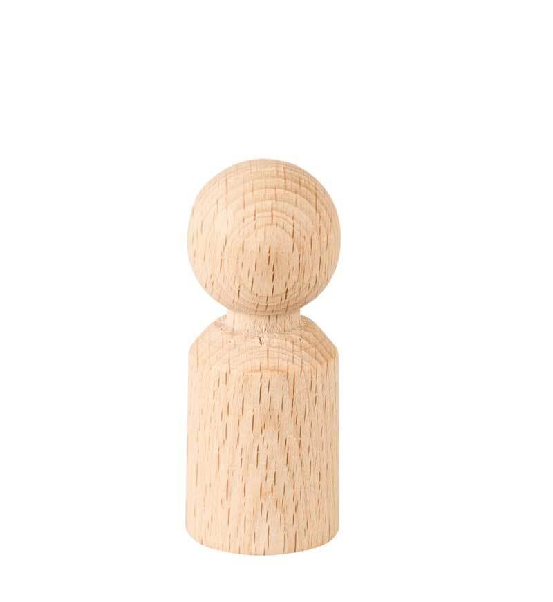 Pion - hoogte 50 mm, Ø 20 mm cylindrisch