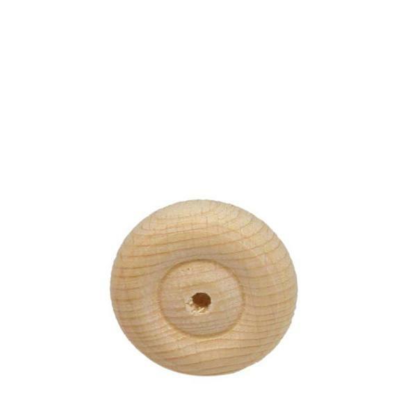 Roues en bois profilées - 10 pces, Ø 30 mm