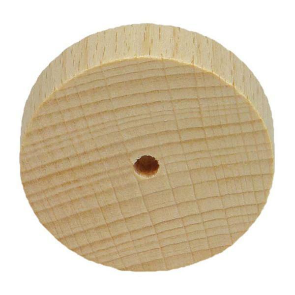 Roues en bois lisses - 10 pces, Ø 40 mm