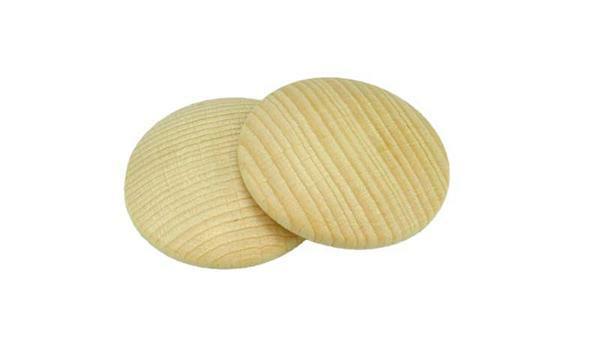 Bouton en bois, Ø 30 mm