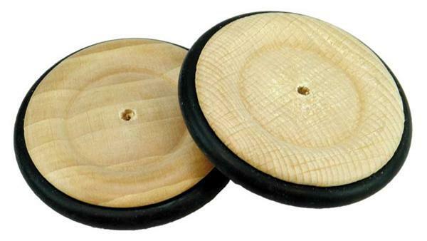 Holzrad mit Gummireifen - Bohr. 4 mm, Ø 63 mm