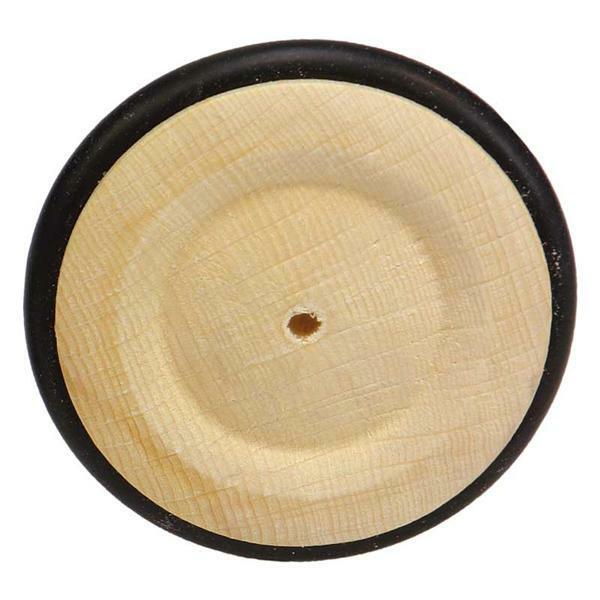 Roues en bois pneu caoutchouc - trou 4 mm, Ø 63 mm