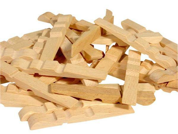Pièces de pince à linge en bois - 1Kg