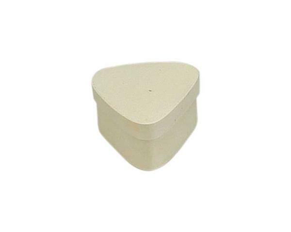 Houten doosjes - driehoekig, ca. 65 x 55 x 35 mm