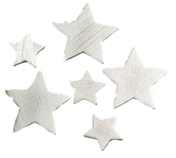 Sterne - 24 Stk., silber