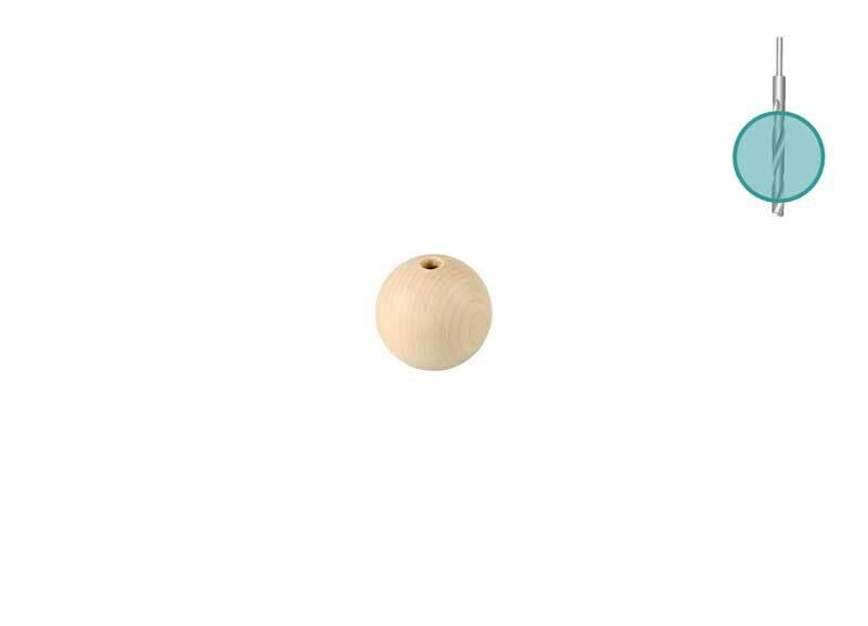 Houten ballen - 100 st., boorgat 3 mm, Ø 10 mm