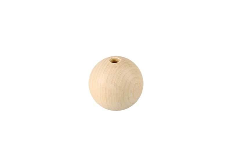 Holzkugeln - 25er Pkg., Ø 18 mm, Bohr. 4 mm