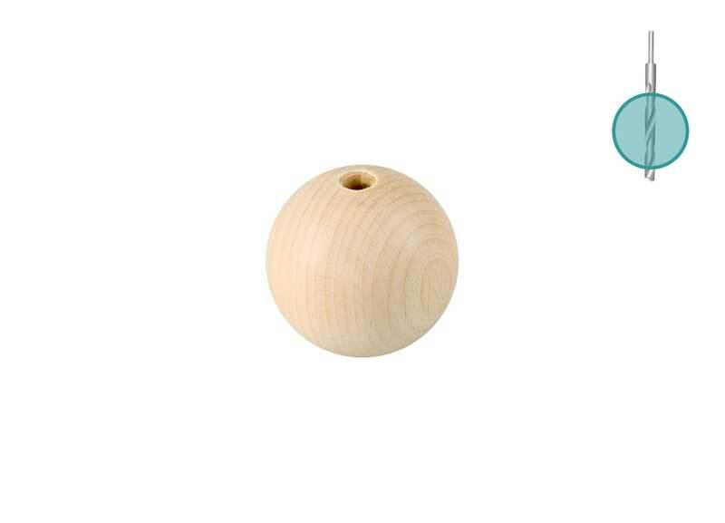 Houten ballen - 25 st., boorgat 4 mm, Ø 20 mm